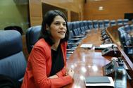 Isa Serra, portavoz de Unidas Podemos, en la Asamblea.