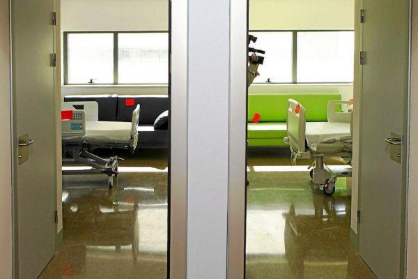 Dos habitaciones de hospital en la nueva Fe de Malilla de Valencia.