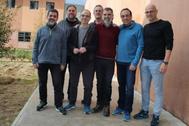 Los líderes independentistas condenados por sedición, en la cárcel de Lledoners.