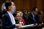Aung San Suu Kyi comparece ante el Tribunal Internacional de Justicia en La Haya