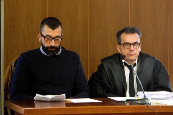 El acusado, César Adrio Otero, en el banquillo de la Audiencia de...