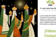 La imagen de la polémica, con los tres Reyes Magos blancos.