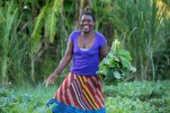 Una mujer que forma parte del proyecto CAMFED, en África.