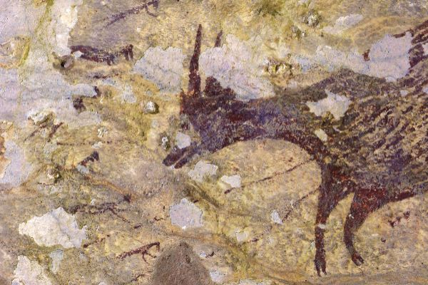 Descubrimiento en una cueva de Indonesia de la escena de caza más...
