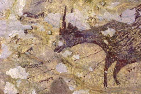 Descubrimiento en una cueva de Indonesia de la escena de caza más antigua encontrada. Es de hace 43.900 años. Firma: Nature