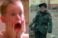 Macaulay Culkin en Solo en casa y Archie Yates en Jojo Rabbit.