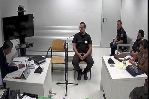 Ferran Jolis, uno de los detenidos, durante su declaraci