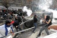 Disturbios en las calles de Santiago de Chile.