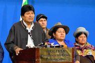 El ex presidente de Bolivia Evo Morales, en una de sus últimas apariciones públicas en su país.