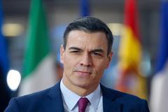 El presidente del Gobierno, Pedro Sánchez, hoy en Bruselas.