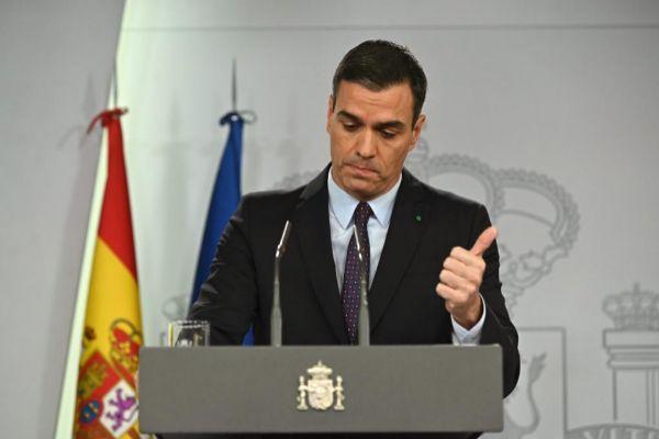 Pedro Sánchez, durante su comparecencia de ayer.