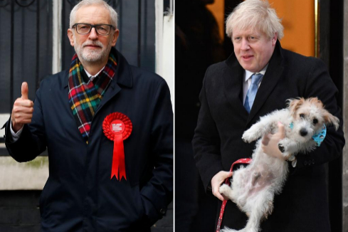 Los candidatos Jeremy Corbyn (izq) y Boris Johnson.