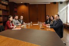 Reunión entre ERC y PSOE el pasado martes.