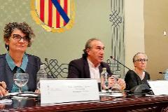 El conseller de Cultura, Martí March, presidiendo el Consell Social de la Lengua Catalana.