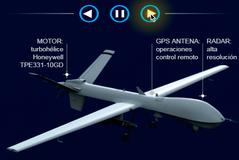 Imagen del nuevo dron militar del Ejército del Aire, con una autonomía de 27 horas y una capacidad de carga de 1.746 kilos. .