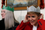 La ministra principal de Escocia, Nicola Sturgeon, en un acto de cierre de campaña.