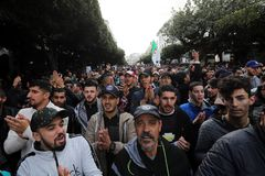<HIT>Algiers</HIT> (Algeria).- Algerians chant slogans during a protest rally in <HIT>Algiers</HIT>, Algeria, 12 December 2019. Thousands of people have taken to the streets in the capital <HIT>Algiers</HIT> calling for a mass boycott of the country's presidential elections, which is taking place on the day, and to voice against the five candidates running to replace ousted president Abdelaziz Bouteflika for being closely linked to the former regime. (Elecciones, Protestas, Estados Unidos, Argel) EPA/
