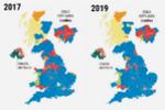Así se ha distribuido el voto en el Reino Unido