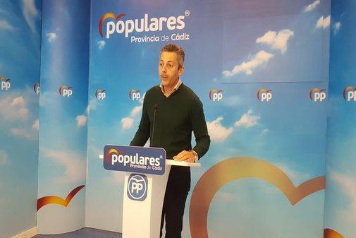 El secretario general del PP de Cádiz y presidente del PP de Chiclana...