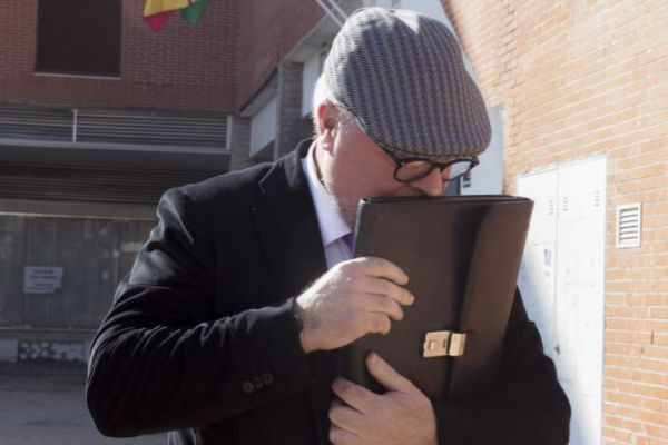 El comisario José Manuel Villarejo, tras declarar en un juzgado de...