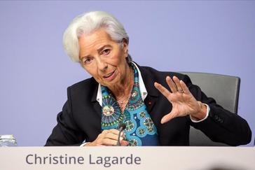 Christine Lagarde, ayer tras la reunión del BCE.