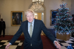 El primer ministro británico, Boris Johnson, en Downing Street.