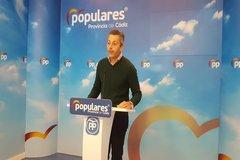 El secretario general del PP de Cádiz y presidente del PP de Chiclana de la Frontera, Andrés Núñez