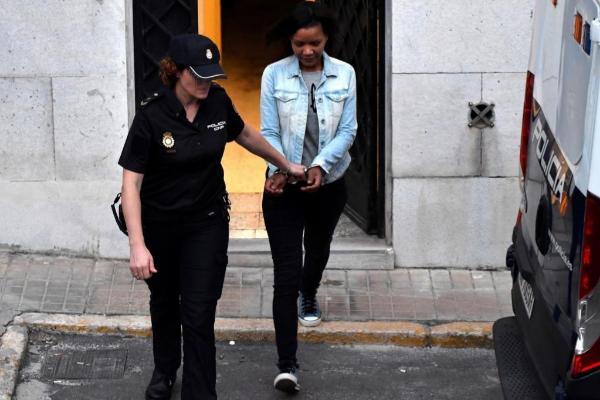 Ana Julia Quezada, a su salida de la Audiencia Provincial de Almería,...