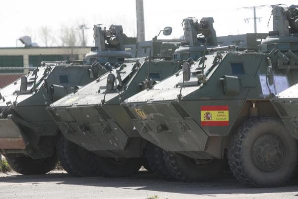 Vehículos blindados BMR, usados por el Ejército de Tierra español...