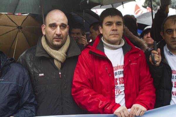 Los sindicalistas Seraf