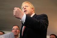 Boris Johnson, en un acto de su partido.
