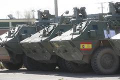 Vehículos blindados BMR, usados por el Ejército de Tierra español en Afganistán.
