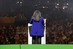 La presidenta de Vox en la Comunidad de Madrid, Rocío Monasterio, en un mitín del partido con motivo del 10-N.