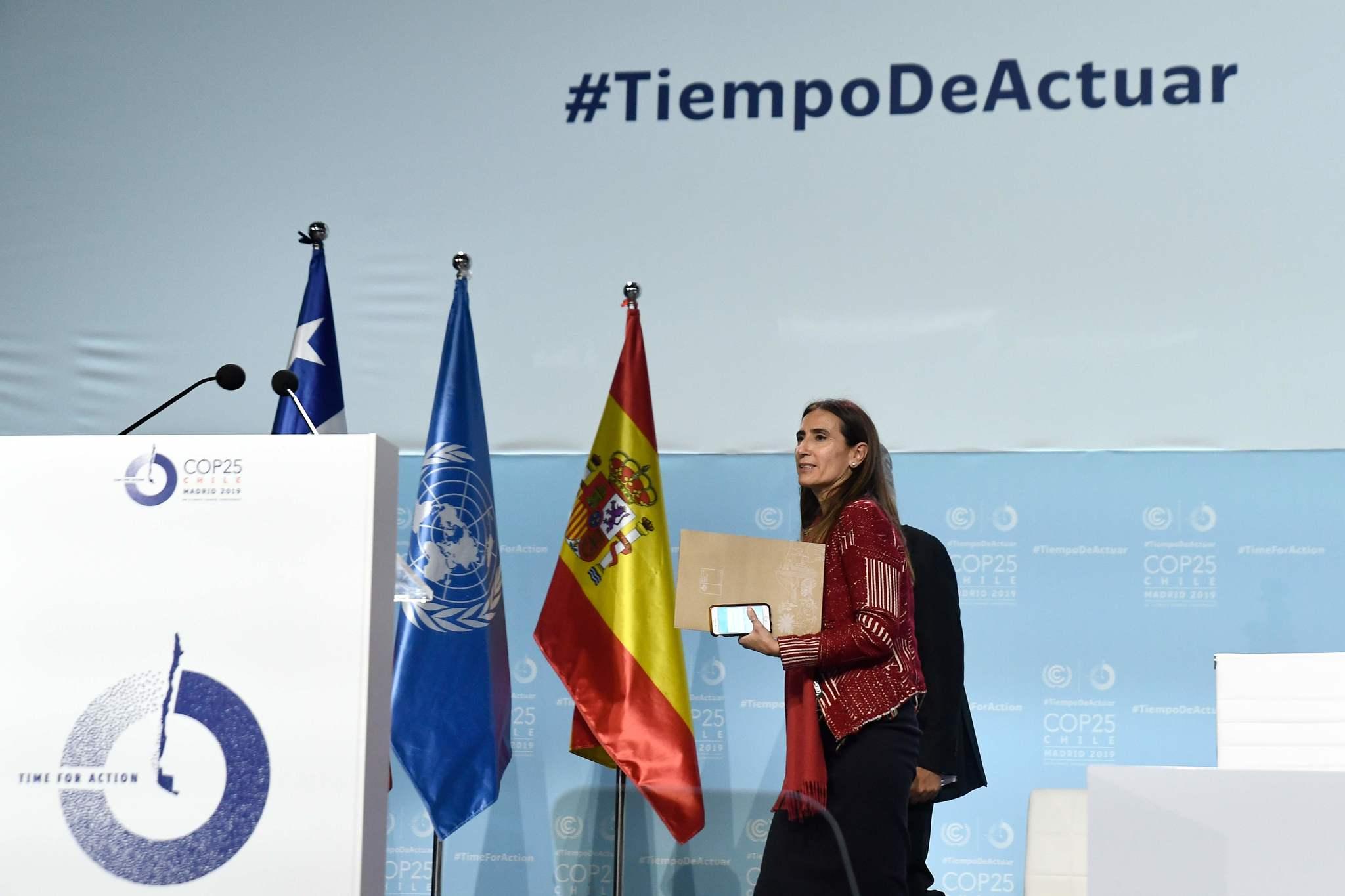 Carolina Schmidt, tras la última sesión plenaria de la COP25
