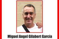 Imagen del desaparecido, Miguel Ángel Gilabert.
