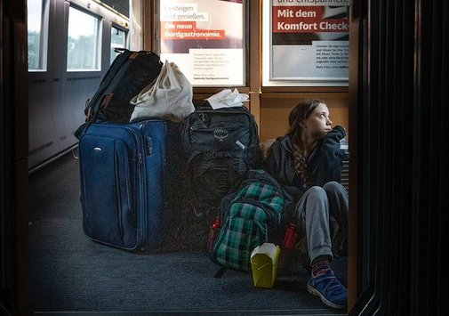 Greta Thunberg, en la foto en el tren que provocó la polémica