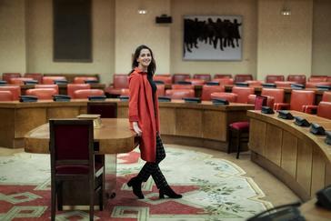 La portavoz de Cs en el Congreso, Inés Arrimadas, en un momento de la entrevista a EL MUNDO.