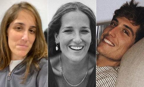 Icíar (i), Macarena y Nacho, los tres hijos de Emilio Aragón.