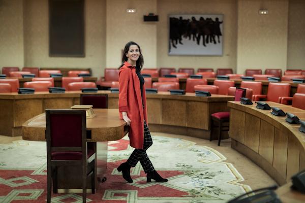 La portavoz de Cs en el Congreso, Inés Arrimadas, en un momento de la...