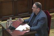 El líder de ERC, Oriol Junqueras, en el juicio al 'procés', en el Tribunal Supremo.