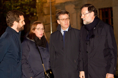Pablo Casado, 'Viri' Fernández, Alberto Núñez Feijóo y Mariano Rajoy