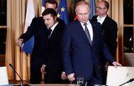 Zelensky y Putin, en la reciente cumbre de París.