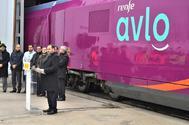 El ministro de Fomento, José Luis Ábalos, en la presentación del AVLO la semana pasada.