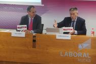 Ibon Urgoiti y Joseba Madariaga durante la presentación.