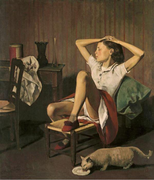 Thérèse soñando, pintada por Balthus en 1938.