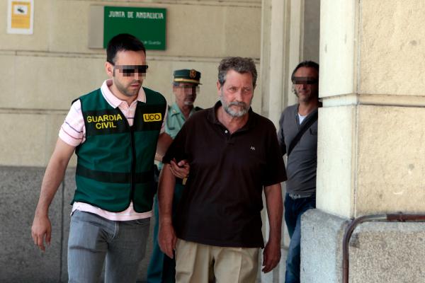 Federico Fresneda, el ex tesorero de UGT, tras ser detenido en junio de 2014.