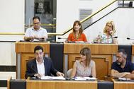 El socialista Toni Francés, al frente de la bancada del PSPV-PSOE en la Diputación de Alicante.