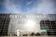 Fachada de uno de los pabellones de Feria Valencia.