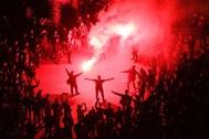 SANTI COGOLLUDO 18.12.2019 <HIT>Barcelona</HIT>, Catalunya Protesta del Tsunami Democrático en las inmediaciones del Camp Nou donde se celebra el clásico entre el Barça y el Real Madrid.