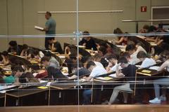Alumnos de la Universidad Pompeu Fabra de Barcelona.